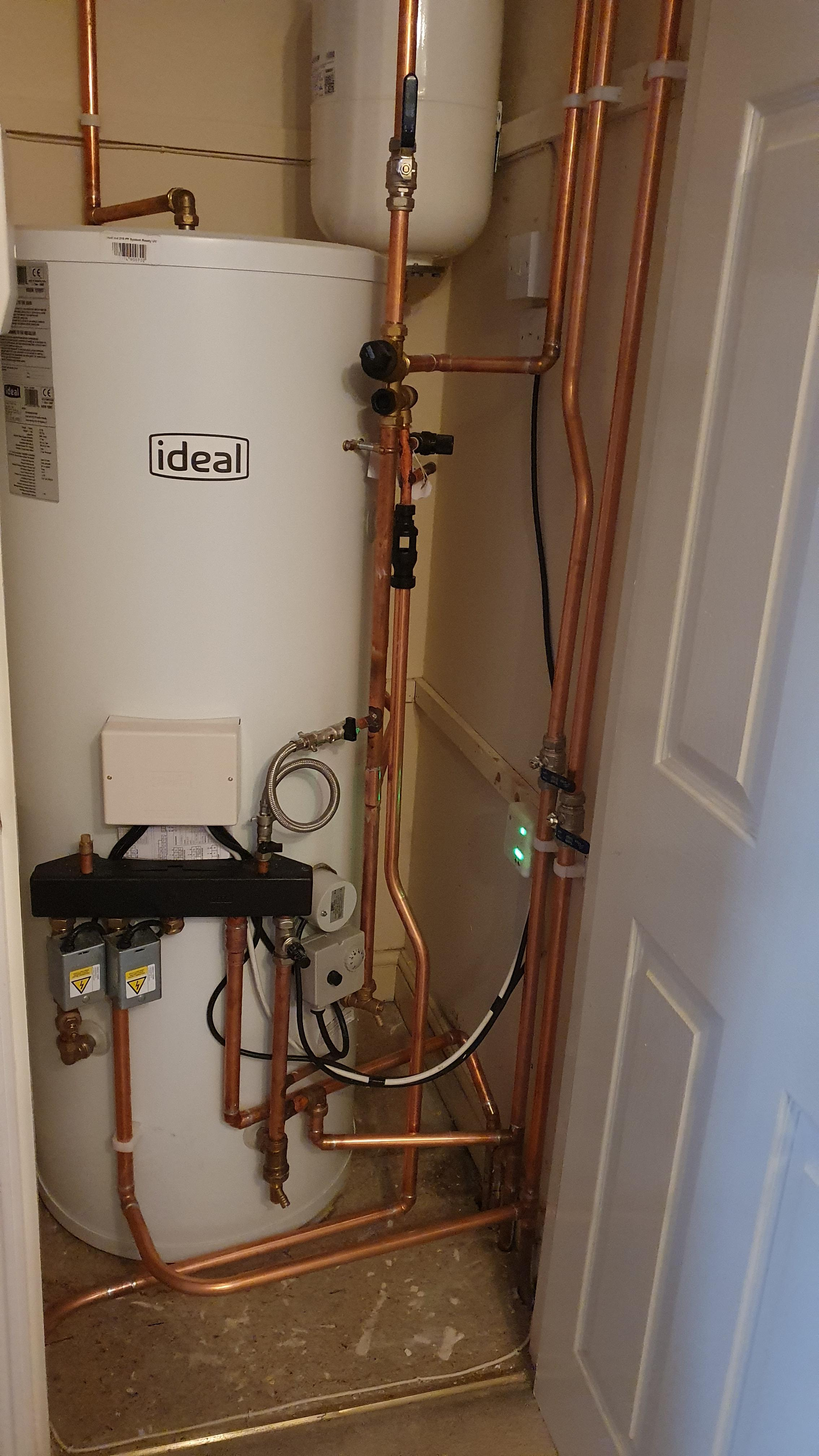 Unvented cylinder installation in Kings Hill, West Malling.