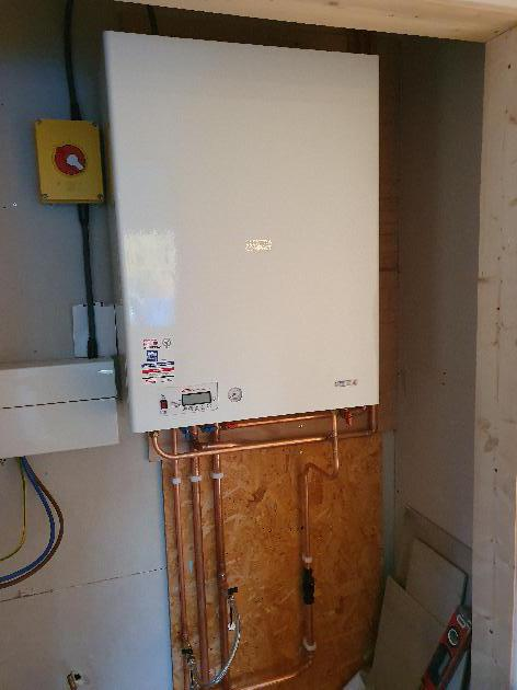Electric Boiler installation in Ulcombe, Kent.