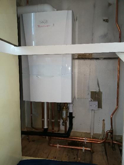 New comb boiler installation in Rochester.