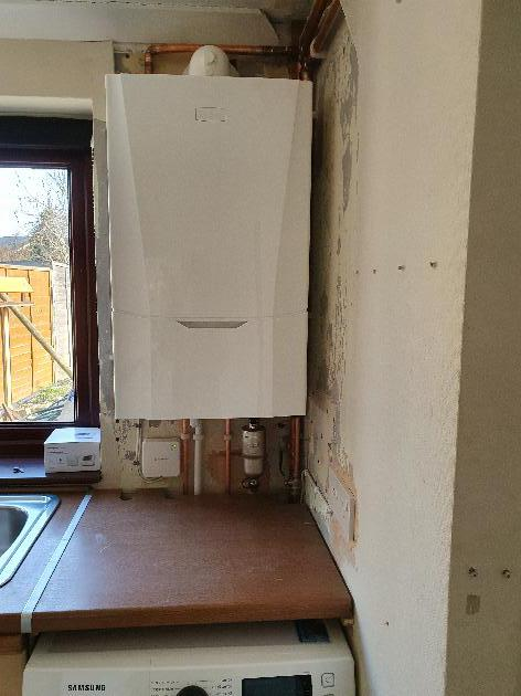 New boiler installation in Snodland, Kent.